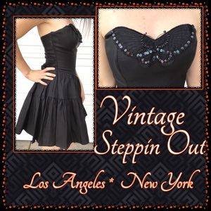Vintage **Steppin Out** Strapless Dress